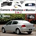 3 in1 Câmera Wi-fi Sem Fio + Receptor + Espelho Especial Monitor de DIY Sistema De Estacionamento Para Chevrolet Vectra Astra Corsa Viva Zafira