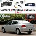 3 in1 WiFi Cámara + Receptor Inalámbrico + Espejo Especial Monitor de BRICOLAJE Sistema de Aparcamiento Para Chevrolet Astra Corsa Vectra Viva Zafira