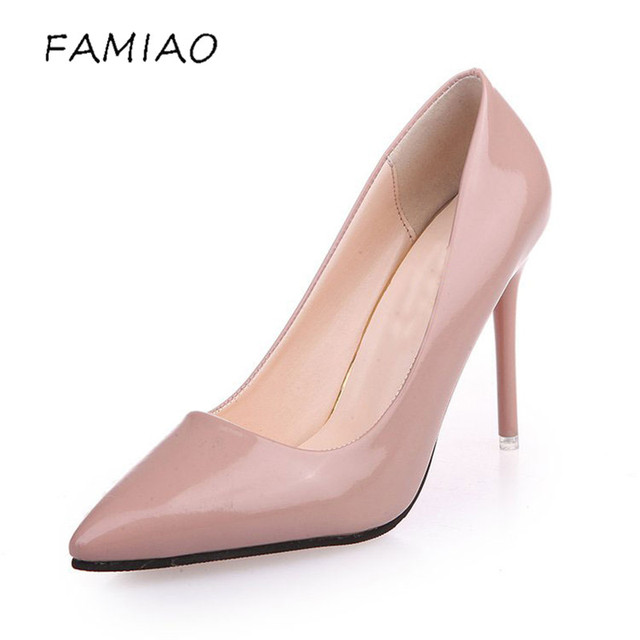 High Heels Shoes Pumps 10.5cm Black Stilettos Heels Sexy Pointed Toe White Pumps Nude Heels for Women Shoes Ladies 5