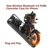 Wireless Bluetooth Pubg Controller 2 in 1 Joystick Trigger Fire Aim Button GamePad for iPhone 6 6s 7 8 Plus X XS XR MAX Case|Gamepads|Consumer Electronics -