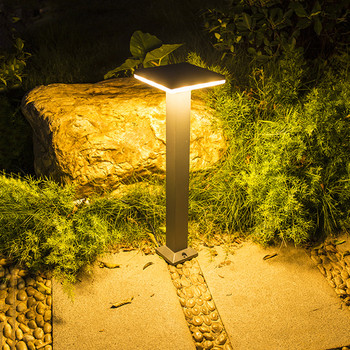 Thrisdar Square Outdoor Garden Lawn Bollard light Aluminum Landscape Road Path Pillar light Fence Villa Park Street Lawn Light