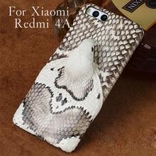 Wangcangli brand phone case real snake head back cover shell For Xiaomi Redmi 4A Plus full manual custom processing