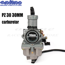 цена на 30mm PZ30 Carburetor Carb ATV Dirt Bike Pit Quad Go Kart Buggy For 175CC 200cc 250cc Motorcycle