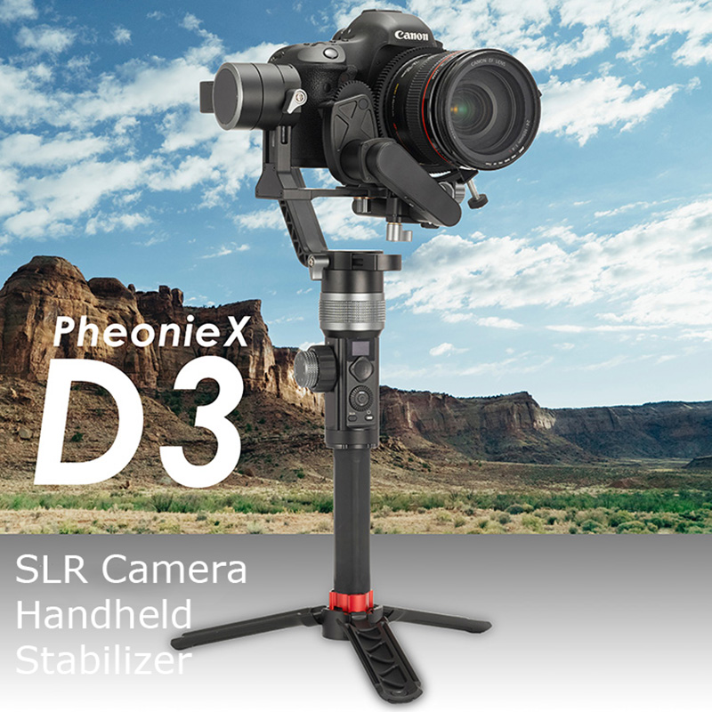 цена на D3 SLR camera Handheld Stabilizer 3-axis Gyroscope Camera Electric Anti-shake Gimbal