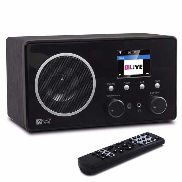 WiFi/DAB+/FM Radio Ocean Digital WR-282CD Internet WiFi DAB Radio Bluetooth Multi-language Menu Alarm Clock Radio Remote