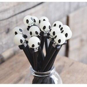 Image 3 - 24 יח\חבילה רעות מצחיקות עט עם הניצוץ אור 0.5mm כדורי שחור צבע עטי מתנת Kawaii מכתבים ציוד לבית ספר FB862