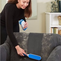 2pcs Set Multi Functional Pet Cat Dog Hair Brush Reusable Self Cleaning Animal Fur Remover Brush