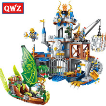 QWZ The War Of Glory Castle Knights Eagle Hawk Castle Building Blocks Set Bricks Model Kids Toys Gift Compatible Legoings Boys(China)