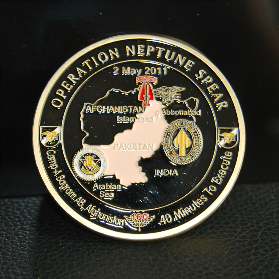 US $5 94 15% OFF|Operation NEPTUNE SPEAR 160th SOAR SEAL Team 6 Navy  Commemorative Challenge Coin, silver plated Masonic medals coins,-in  Non-currency
