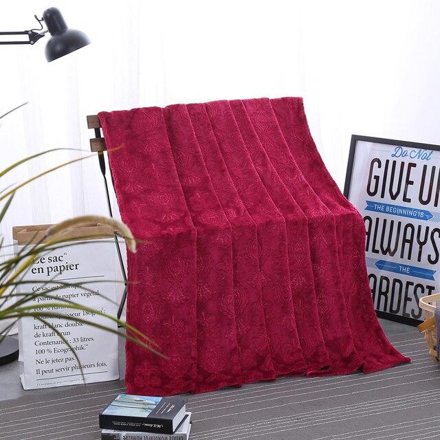 Fabulous Super Weich Gestrickt Plsch Decke Roter Druckmuster Baumwolle Decke  Tagesdecke Bord With Bettwsche Trkis