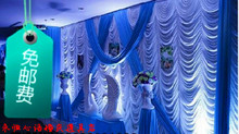 20ft 10ft Wedding backdrop New Design Wedding Backdrop Stage Curtain royal blue water backdrop