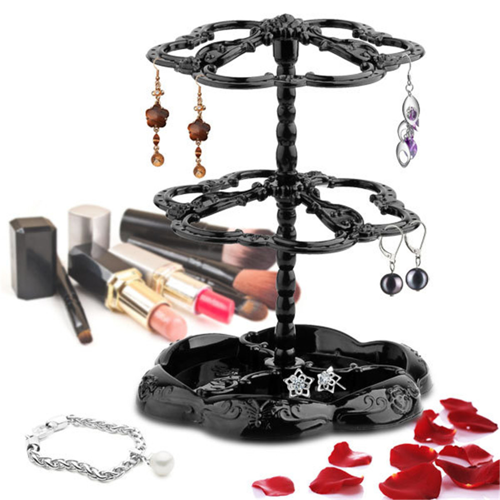 Exhibition Stand Rota : Three tier rotatable fashion jewelry display stand earring