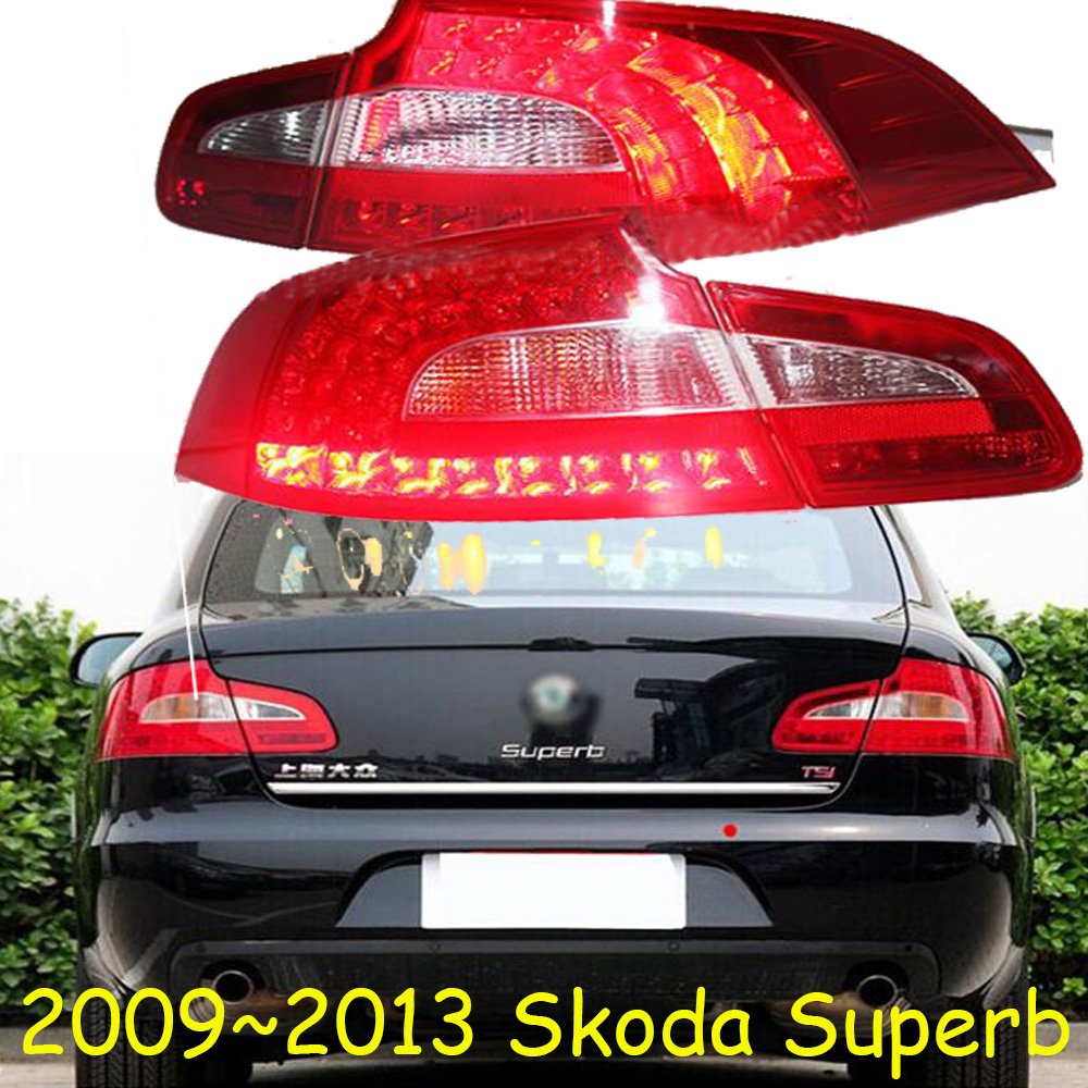 Car Styling for Skoda Superb taillights LED 2009 2010 2011 2012 2013 car accessories Superb Lamp yeti fabia Superb rear light