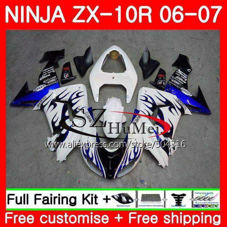 кузов для Kawasaki Ninja Zx10r 06 07 Zx1000c 16sh12 Zx 10r 06 07