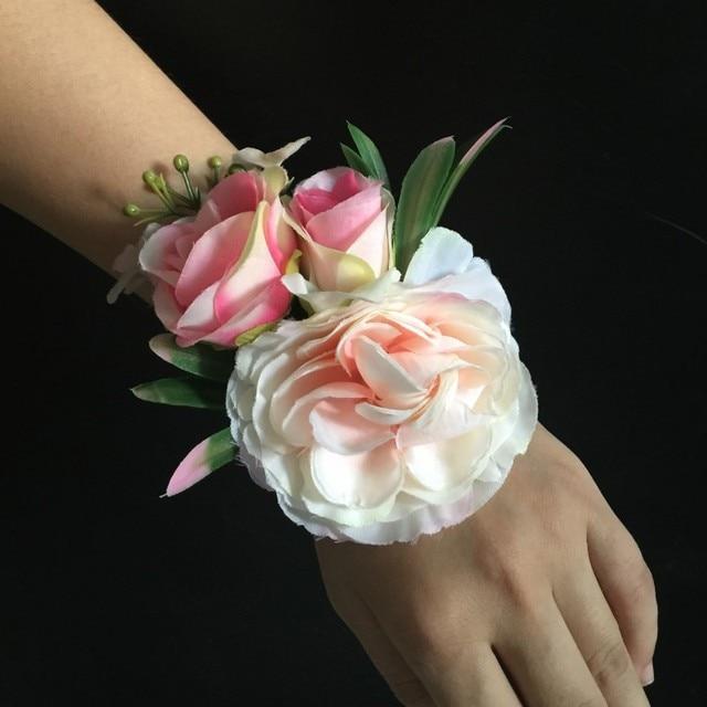 Rosa Elfenbein Blau Lila Seide Blume Hochzeit Braut Brautjungfer