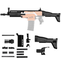 WORKER Decoration Set STF W003 FN SCAR For Nerff N strike Elite Retaliator Toys Accessory Outdoor Sport Toy Gift