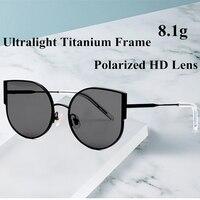 0774925cf ... Óculos Polarizados Sol Do Olho Gato Mulheres All Fit UV400 Espelho  Feminino Gafas del. 2019 New Fashional Pure Titanium Ultralight Cat Eye  Polarized ...