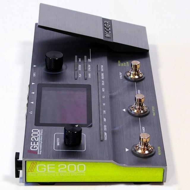 Mooer GE200 Amp modelling Multi Effect Processor Pedal With 26 IR Speaker Cab Model 52 Second Looper 55 Amplifier Models 4