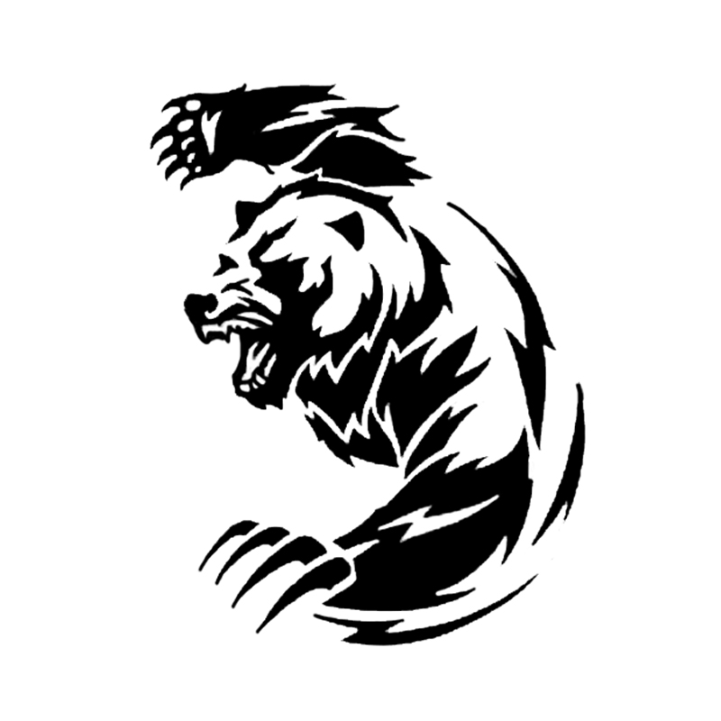 11.9*14.8CM <font><b>Angry</b></font> Bear Animals <font><b>Car</b></font> <font><b>Sticker</b></font> Vinyl Decoration Accessories Auto Door Rear Trunk <font><b>Car</b></font> Styling for Lexus Volvo Renault image