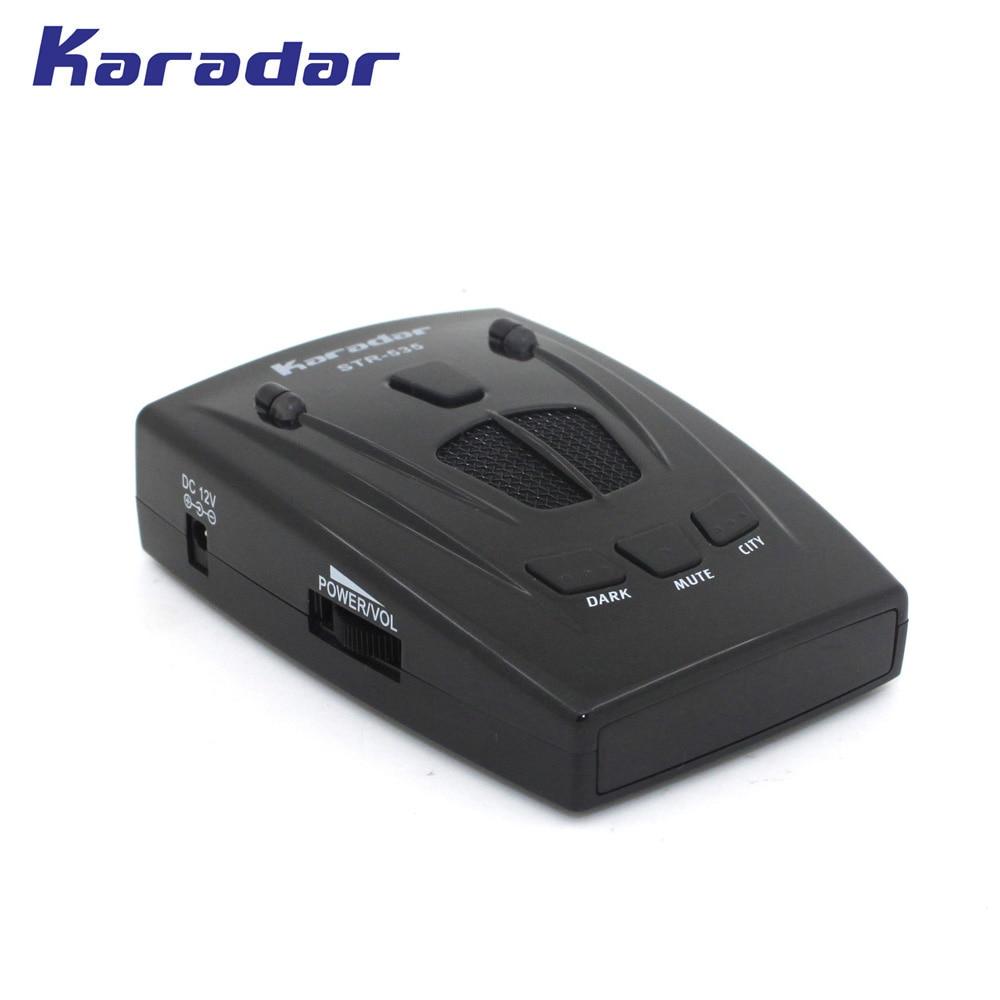 KARADAR Car Radar Detector with Icon Display Anti Strelka Radar Detector Russian Voice Car Radar Detector