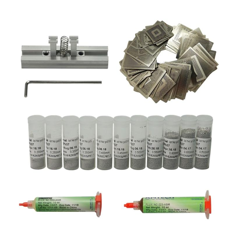 110pcs BGA Reball Directly Heat Stencils BGA Balls Station kit