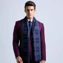 Scarf Luxury Brand Men Vintage Tartan Business Scarves Winter Cotton Bufandas Cachecol YJWD355