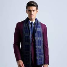 Scarf Luxury Brand Men Vintage font b Tartan b font Business Scarves Winter Cotton Bufandas Cachecol