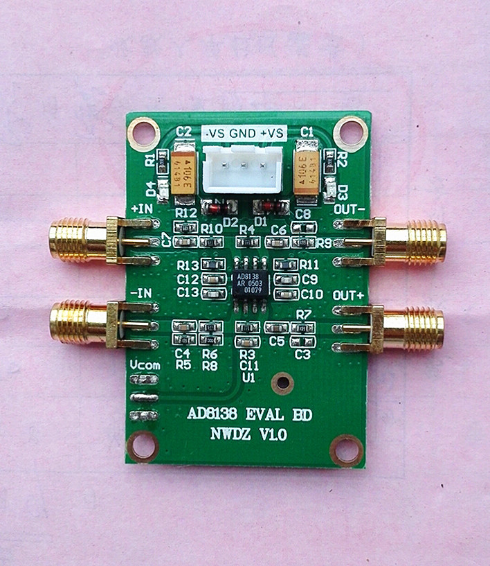 AD8138 Module Single-end/differential Amplifier High Speed ADC Drive Low Distortion High Bandwidth Medium Frequency Amplificatio sudakar singh chauhan low power cmos based flash adc