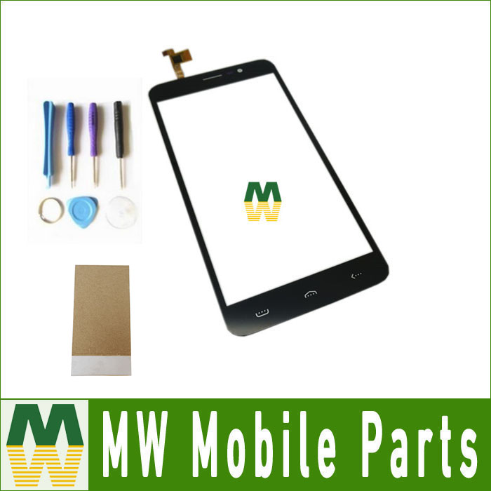 1PC/Lot High Quality Black Color 5.5Inch For <font><b>Homtom</b></font> HT27 <font><b>HT</b></font> <font><b>27</b></font> Touch Screen Touch Digitizer Replacement Part with tools& tape image