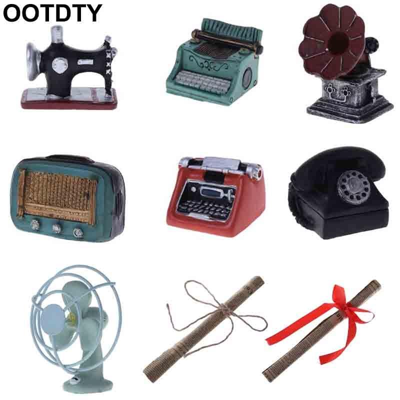Photography Props Baby Photo Shot Studio Vintage Retro Machine Phonograph Radio Telephone Antique Creative Mini Fan Camera