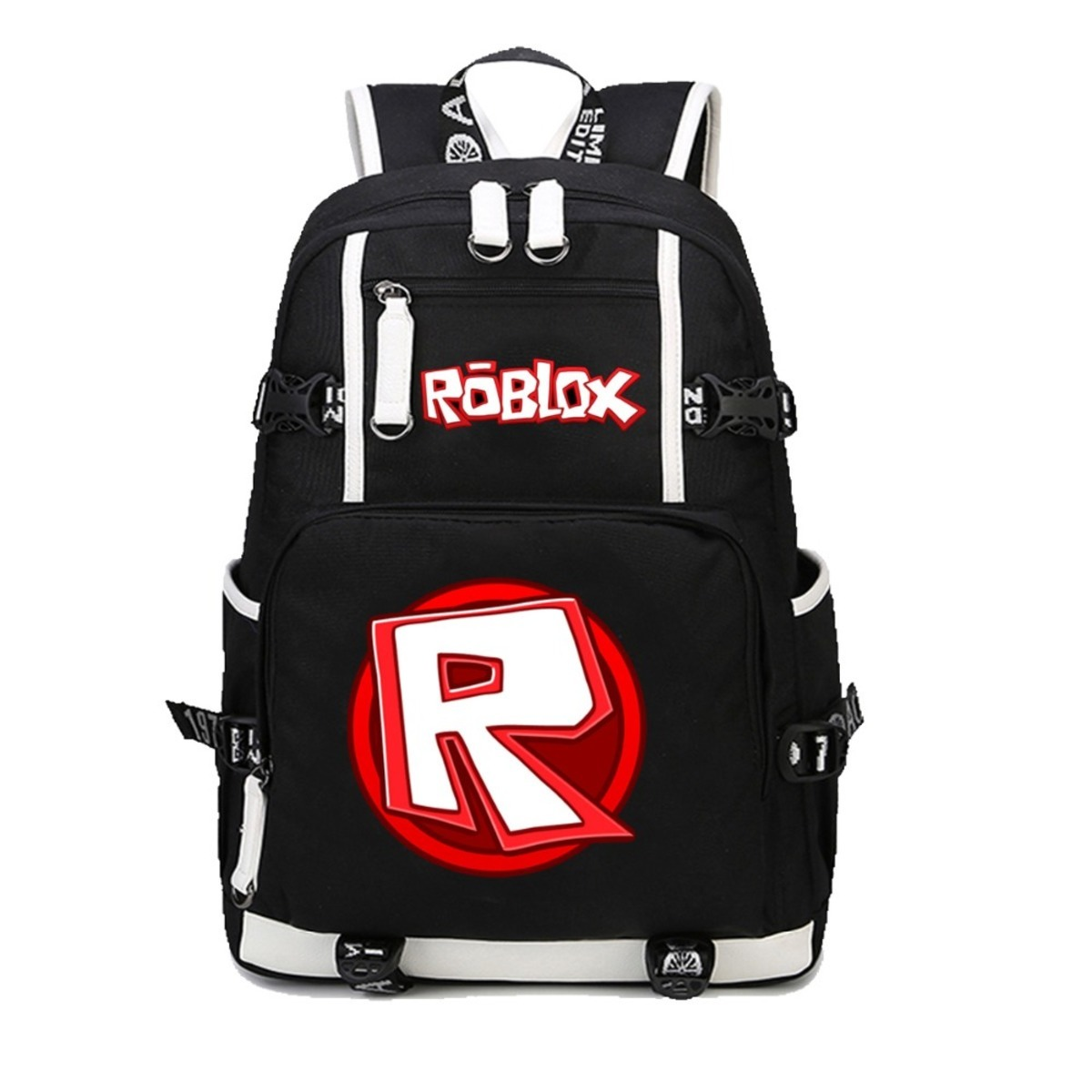 anime Roblox backpack student school bag women men shoulder travel bag Leisure Daily backpack Teenage Backpacks 5 style solar powered head shaking cute hula couple desktop toy