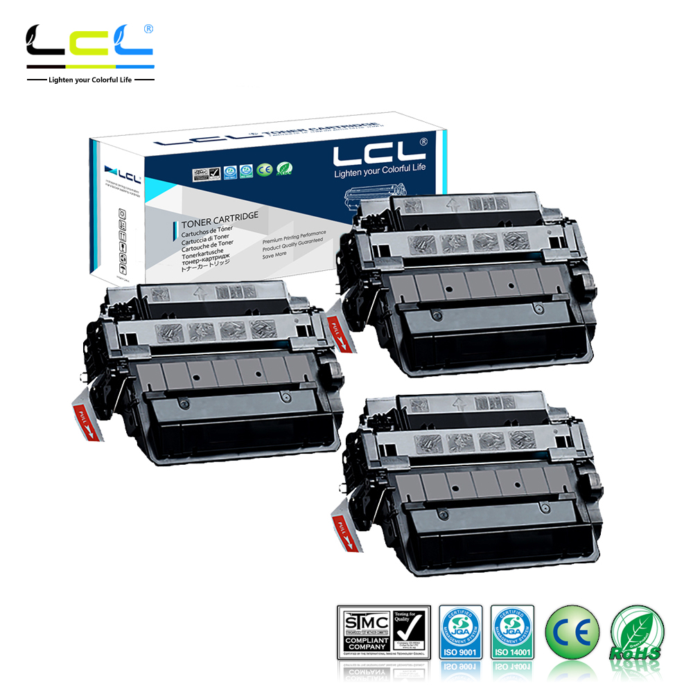 LCL CE255X 55X CE 255 X CE255 255X (3-Pack) Laser Toner Cartridge Compatible for HP Laserjet Enterprise P3015/P3015d/P3015dn compatible black toner laserjet printer laser cartridge for hp c7115a 7115a 15a 1000 1220 3330 3300 1005 1200 3380 2500pages