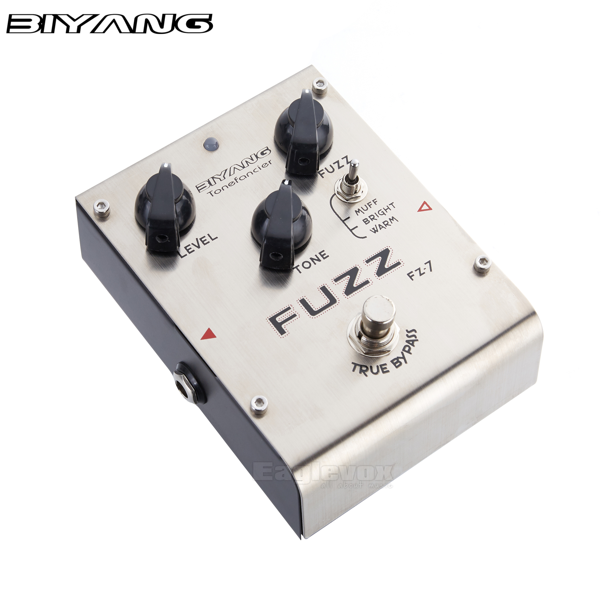 Biyang Fuzz Guitar Effect Pedal Combination Vintage and Modern Distortion Sound Effects Stompbox for Electric Guitar FZ-7 biyang baby boom fz 10 electric guitar effect pedal three models fuzz star distortion true bypass musical instruments