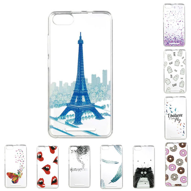 "For Wiko Lenny3 Case 5.0"" Luxury Cartoon TPU Phone Case For Coque Wiko Lenny3 Lenny 3 Case Silicone Protective Back Cover Skin"