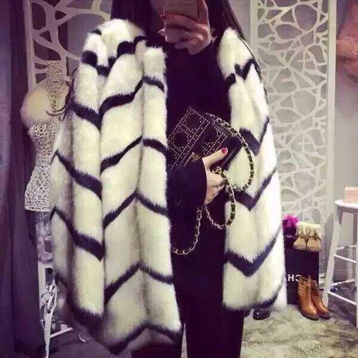 Vêtements Mode Veste Europe Fausse Imitation En Multi Vison Ondulés Femmes Furry Manteau Et Fourrure Hiver Amérique 2017 Nouvelle De 5FAZwE0