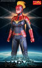 28cm Crazy Toys Marvel Avengers Super Hero Captain Marvel Statue PVC Action Figure Collectible Model Toy