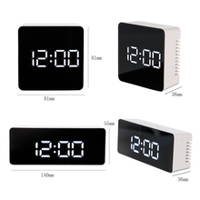 LED Mirror Alarm Clock Digital Snooze Table Clock Wake Up Light Electronic Time Temperature Display Home Decoration Despertador