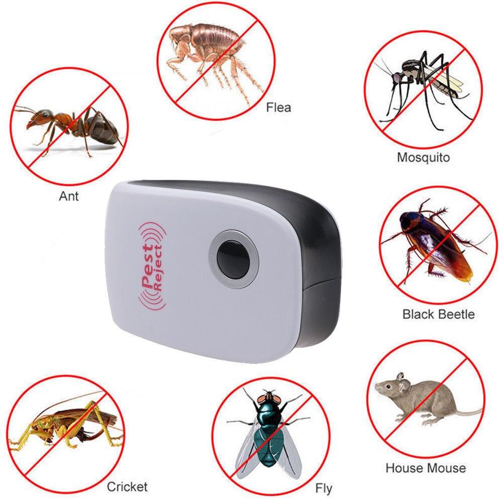 Ультразвуковой Отпугиватель Насекомых против грызунов, электронный отпугиватель насекомых, от тараканов