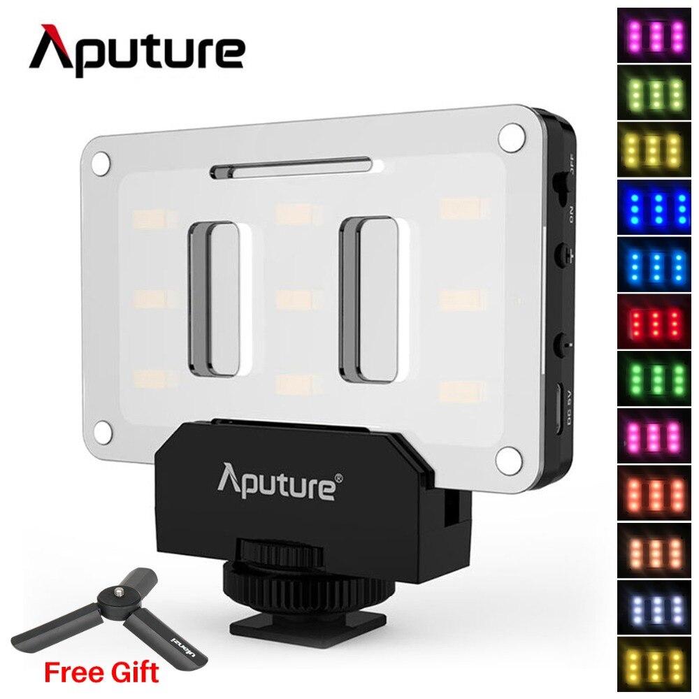 Aputure карманный светодиодный заполнения освещение на Камера со штативом, кронштейн комплект AL-M9 Amaran CRI 95 видеокамера для Nikon Canon DSLR
