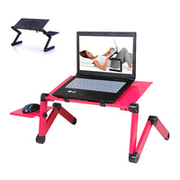 Portable Laptop Desk Computer Table Stand Aluminium Alloy Adjustable Foldable Sofa Bed Tray For Home Office