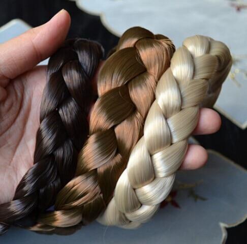 2.5 cm de ancho Nueva Llegada freeshipping moda bohemio pelucas trenza de ancho ancho diadema popular moda accesorios para el cabello