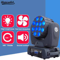 LED de la etapa de luz en movimiento la cabeza haz 7x12 W 12X12 W 36X3 W parte DMX-512 DMX Dj Luz de cabeza Lira etapa profesional