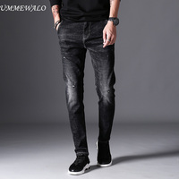 UMMEWALO Black Skinny Jeans Men Winter Autumn Stretch Denim Jeans Man Elastic Casual Slim Jean Pants Male Quality Jeans Homme