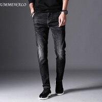 UMMEWALO Black Skinny Jeans Men Winter Autumn Stretch Denim Jeans Man Elastic Casual Slim Jean Pants