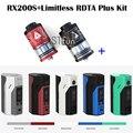 100% Оригинал Wismec Reuleaux RX200S TC 200 Вт OLED Экран Окно мод с Оригинал IJOY Безграничные RDTA Плюс 6.3 мл Распылитель Полный комплект