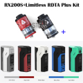 100% Original Wismec Reuleaux RX200S TC 200W OLED Screen Box Mod with Original IJOY Limitless RDTA Plus 6.3ml Atomizer Full kit