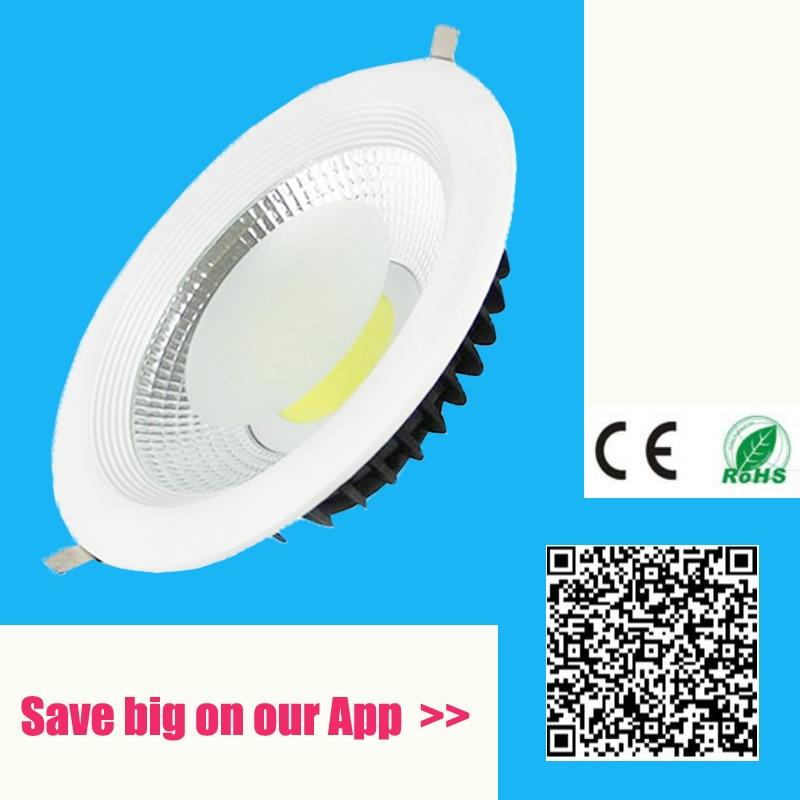 2018 nouvelle led cob downlight Dimmable gradation LED Spot light encastré led plafond lampe AC110V 220 V IP44 Toilettes lumière salle de bains lampe