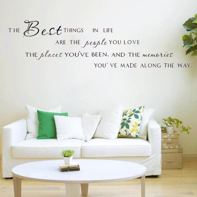 House Decoration U0027The Best Things In Life People Placesu0027 Beautiful Design  Wall Stickers Hot