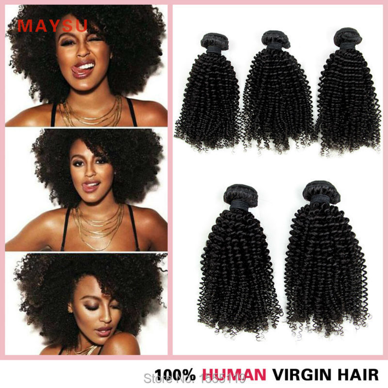 (3 pieces/lot) 7A Malaysian Kinky Curly Virgin Hair Weave Maysu Malaysian Kinky Curly Hair 8-30 Inch Curl Retention No Shedding