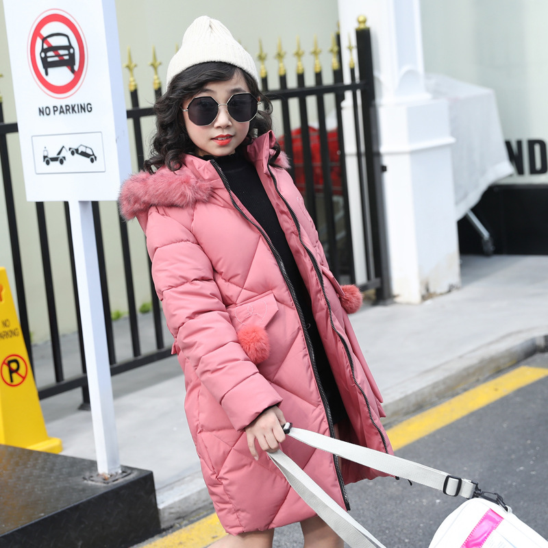 Kids Winter Jacket Girls Winter Coat for 8 10 12 13 Years Children Clothing Thick Warm Kids Outerwear Teenage Girls Clothing 2018 children down jacket girls winter long section kids clothing thick coat 30 degree warm outerwear for 7 9 10 11 13 years